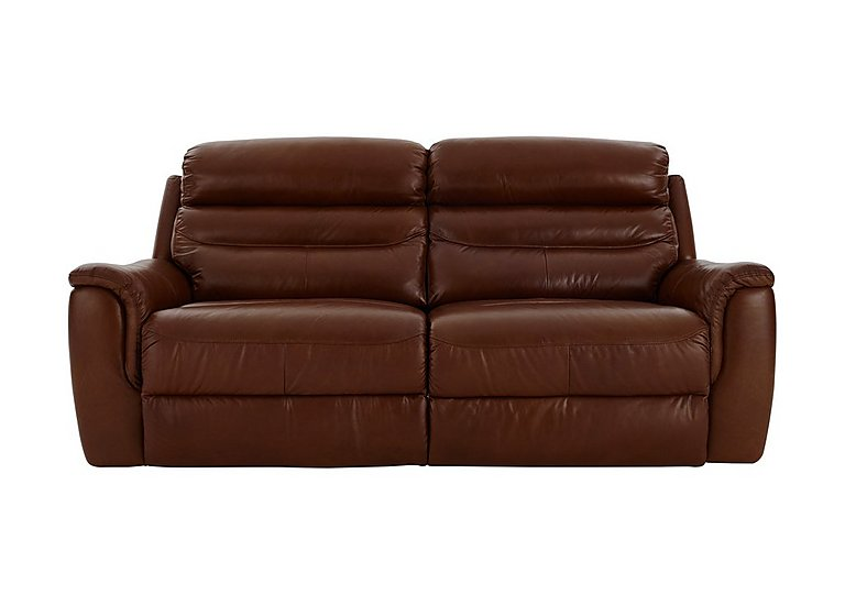 Tennessee 2 Seater Leather Recliner Sofa in 220/58 V Coll Saddle on Furniture Village