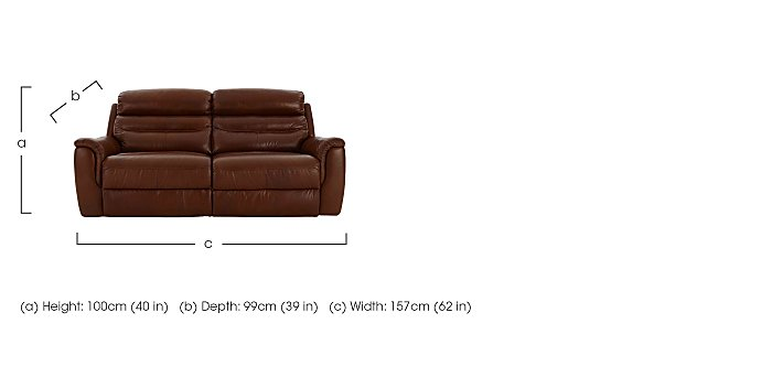 Tennessee 2 Seater Leather Recliner Sofa in  on Furniture Village