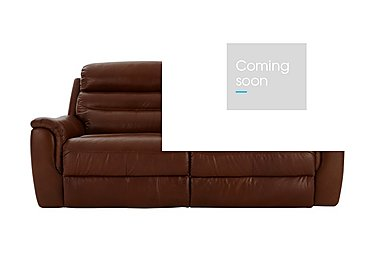 Tennessee 3 Seater Leather Recliner Sofa in 220/58 V Coll Saddle on Furniture Village