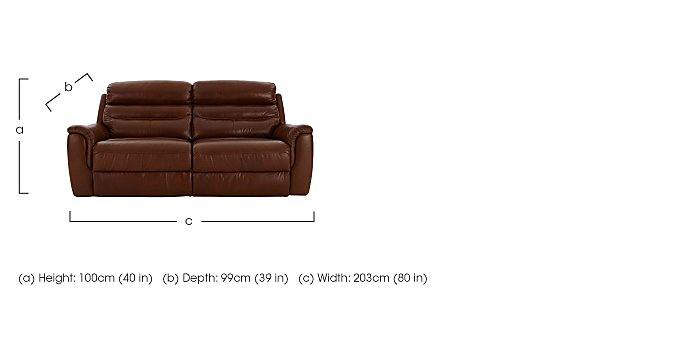 Tennessee 3 Seater Leather Recliner Sofa in  on Furniture Village