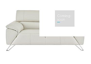 Tesla 2 Seater Leather Sofa in Dali 1514 Ghiaccio on Furniture Village