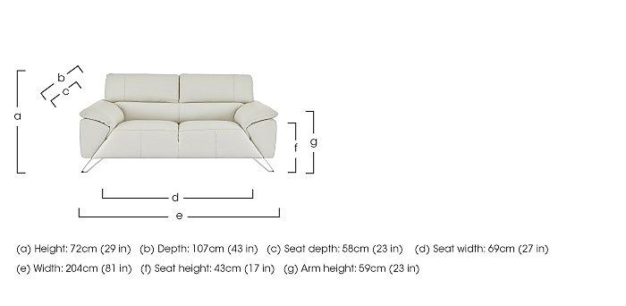 Tesla 2.5 Seater Leather Sofa in  on Furniture Village