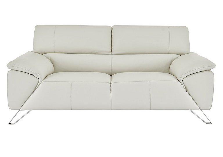 Tesla 2.5 Seater Leather Sofa in Dali 1514 Ghiaccio on Furniture Village