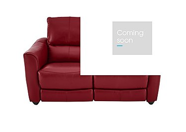 Trilogy 2 Seater Leather Recliner Sofa in Bv-0008 Pure Red on Furniture Village