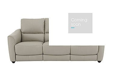 Trilogy 3 Seater Leather Recliner Sofa in Bv-946b Silver Grey on Furniture Village