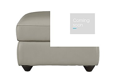 Trilogy Leather Storage Footstool in Bv-946b Silver Grey on Furniture Village