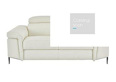 Vicenzi 2 Seater Leather Sofa in Torello Bianco Ottico on Furniture Village