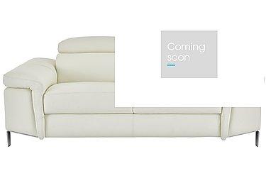 Vicenzi 3 Seater Leather Sofa in Torello Bianco Ottico on Furniture Village