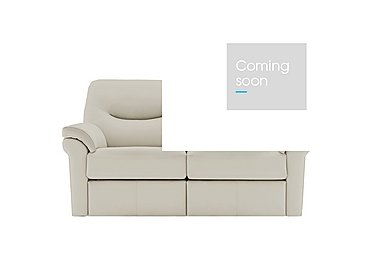 Washington 2 Seater Leather Recliner Sofa in P220 Capri Chalk on Furniture Village