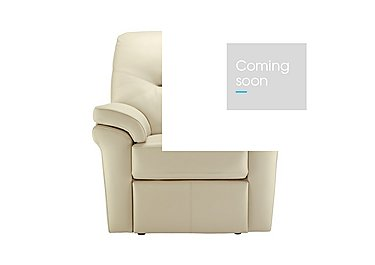 Washington Leather Recliner Armchair in P220 Capri Chalk on Furniture Village