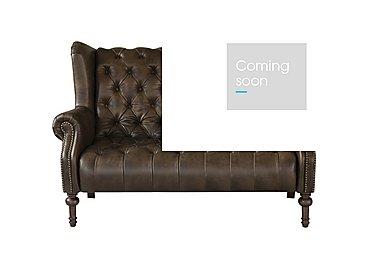 New England Windham 2 Seater Leather Sofa in Cal Smoke Dark Feet on Furniture Village
