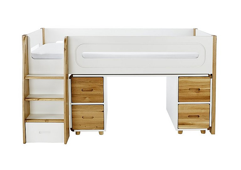 Corvo Midsleeper with Desk and Four Doors in Oak on Furniture Village