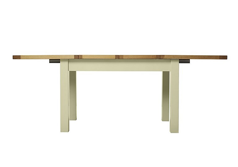 Bordeaux Painted Large Extending Oak Dining Table in Natural Monocoats on Furniture Village