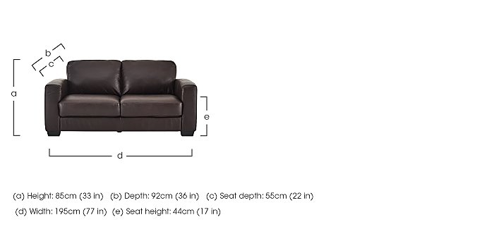 Dante 2.5 Seater Leather Sofa Bed in  on Furniture Village