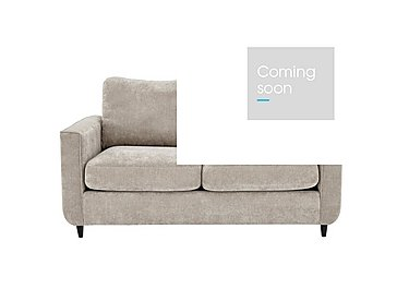 Esprit 2 Seater Fabric Sofa Bed in Silver Ebony Feet on Furniture Village