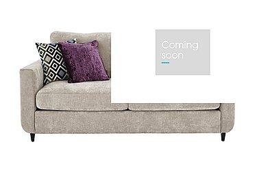 Esprit 3 Seater Fabric Sofa Bed in Silver Ebony Feet on Furniture Village