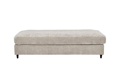 Esprit Large Fabric Stool Sofa Bed in Silver Ebony Feet on Furniture Village