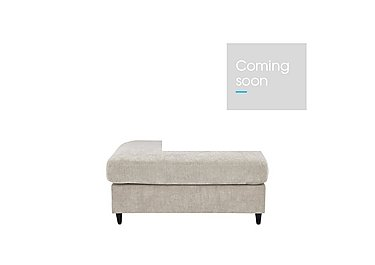 Esprit Small Fabric Stool Sofa Bed in Silver Ebony Feet on Furniture Village