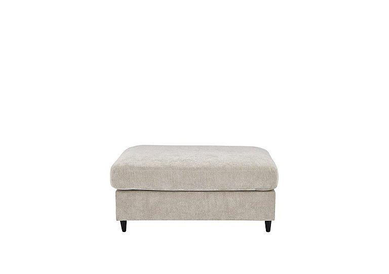 Esprit Small Fabric Stool Sofa Bed in Silver Ebony Feet on Furniture Village