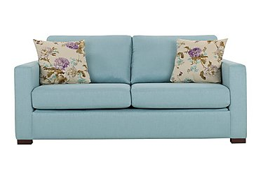 Petra 3 Seater Fabric Deluxe Sofa Bed in Marbella Turquiose 38 on Furniture Village