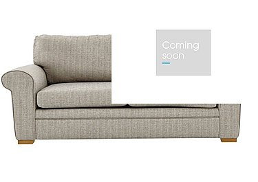 Reigate 4 Seater Fabric Sofa Bed in A363 Beige Light Natural Feet on Furniture Village