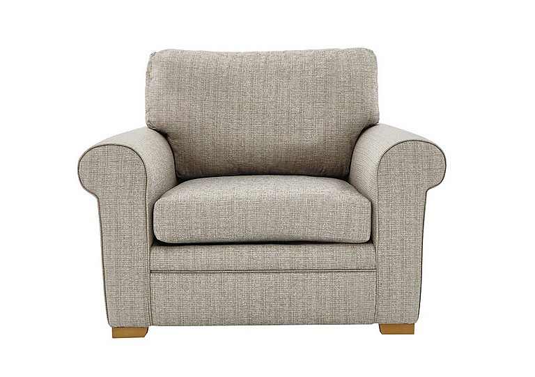 Reigate Fabric Armchair in A363 Beige Light Natural Feet on Furniture Village