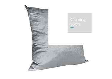 Velveteen Cushion in Silver on Furniture Village