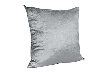 Velveteen Cushion in Silver on Furniture Village