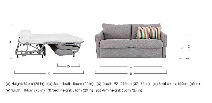 Venus 3 Seater Fabric Sofa Bed in  on Furniture Village