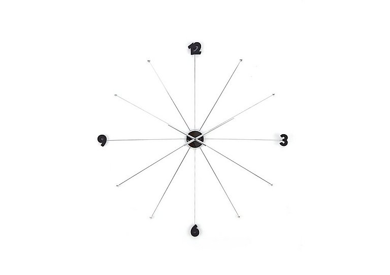 Slim Wall Clock in Black on Furniture Village