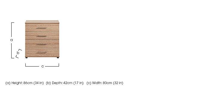 Amari 4 Drawer Chest in  on Furniture Village