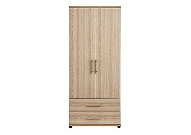 Amari 2 Door Gents Wardrobe in Kkv - King Oak on Furniture Village
