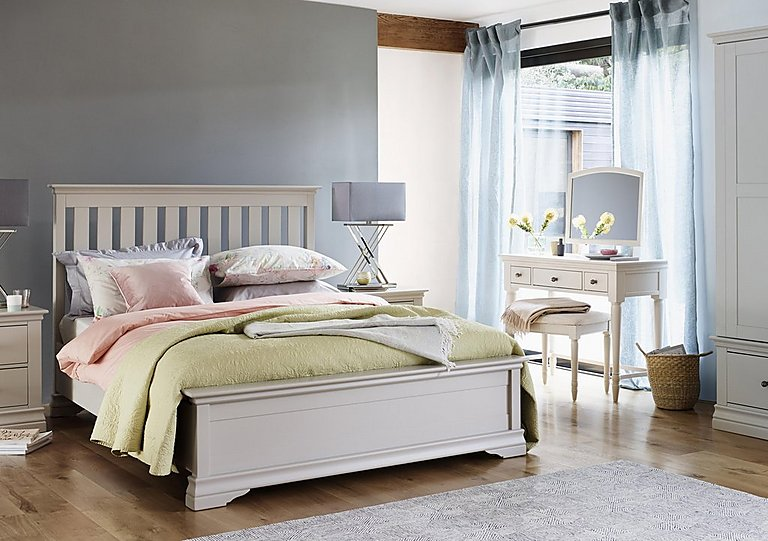 Ambriella King Size Bed Frame High Foot End - Corndell - Furniture ...
