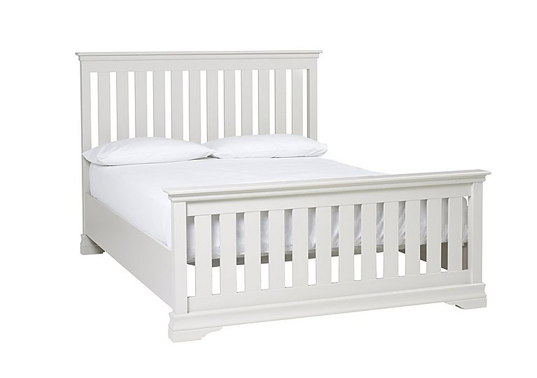 Ambriella King Size Bed Frame High Foot End in Cotton on Furniture Village