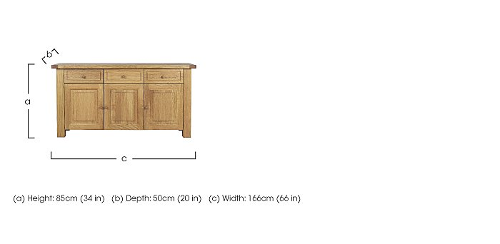 Bordeaux Painted Sideboard in  on Furniture Village