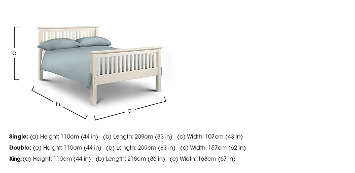 Chilton Stone White High End Bed Frame in  on Furniture Village