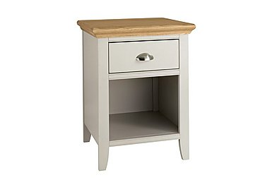 Emily 1 Drawer Nightstand in Soft Grey And Oak on Furniture Village