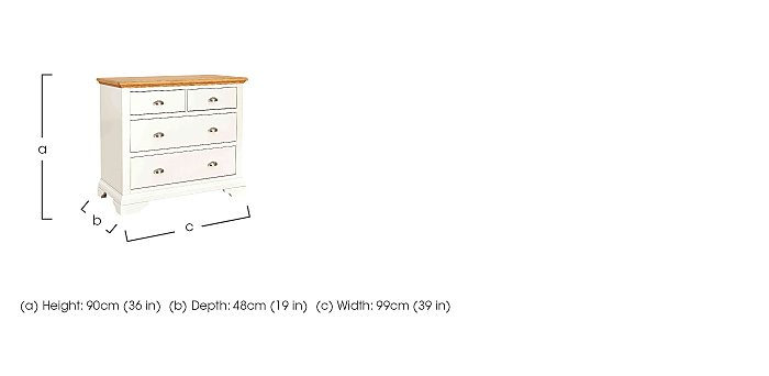 Emily 4 Drawer Chest in  on Furniture Village