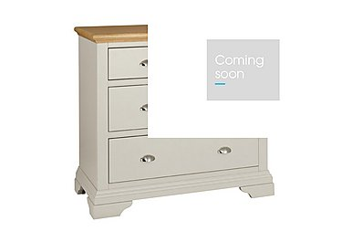 Emily 4 Drawer Chest in Soft Grey And Oak on Furniture Village