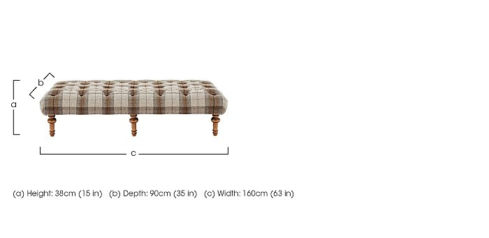 New England Addison Large Fabric Footstool in  on Furniture Village