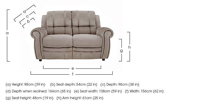 Arizona 2 Seater Fabric Recliner Sofa in  on Furniture Village