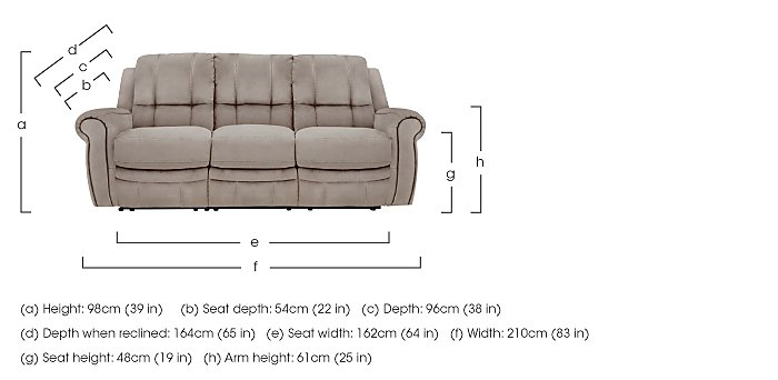Arizona 3 Seater Fabric Recliner Sofa in  on Furniture Village