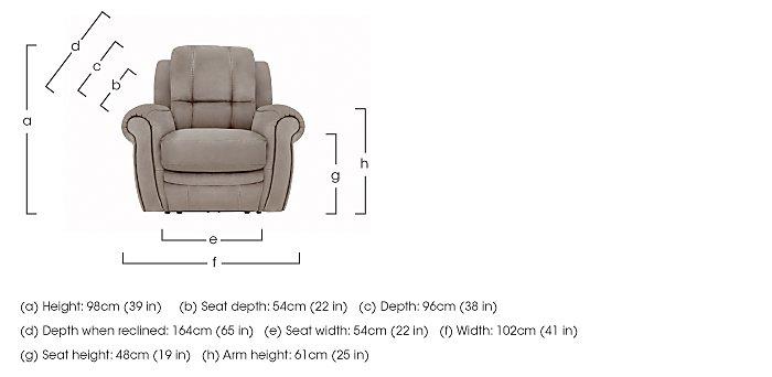 Arizona Fabric Recliner Armchair in  on Furniture Village
