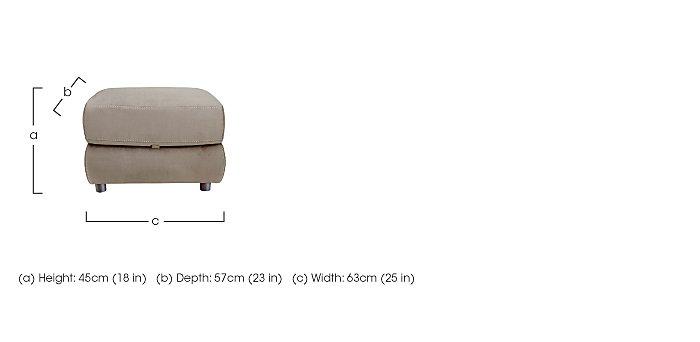 Arizona Fabric Storage Footstool in  on Furniture Village
