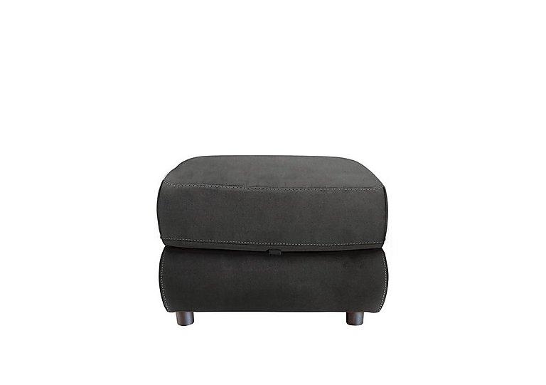 Arizona Fabric Storage Footstool in Bfa-Blj-R16 Grey on Furniture Village