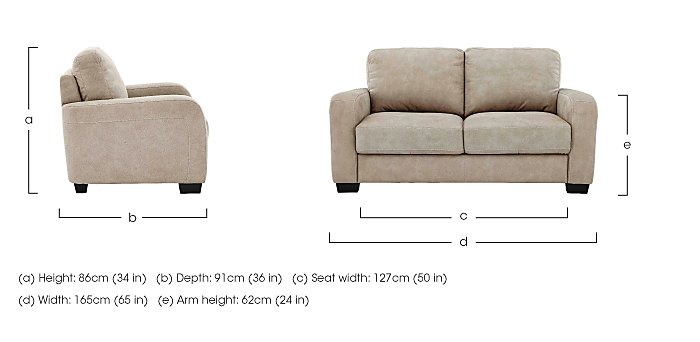 Astor 2 Seater Fabric Sofa in  on Furniture Village