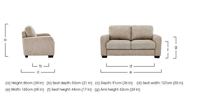 Astor 3 Seater Fabric Sofa in  on Furniture Village