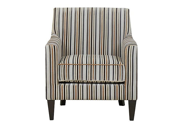 Baxter Fabric Armchair in Silver 069617 Dark Wood on Furniture Village