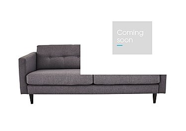 Buttons 2 Seater Fabric Sofa in Fab-Bll-13 Ash on Furniture Village