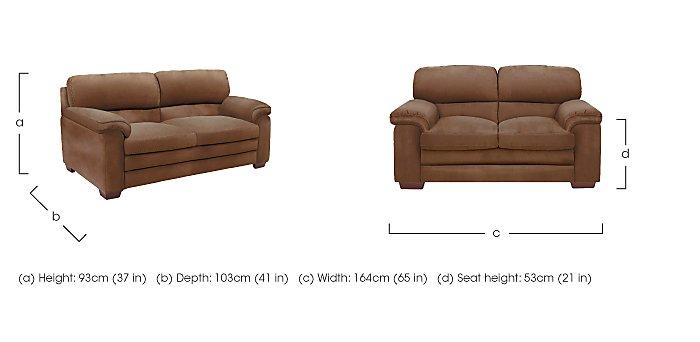 Carolina 2 Seater Fabric Sofa in  on Furniture Village